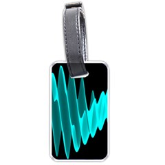 Wave Pattern Vector Design Luggage Tags (Two Sides)