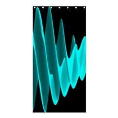 Wave Pattern Vector Design Shower Curtain 36  x 72  (Stall)