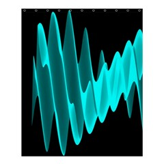 Wave Pattern Vector Design Shower Curtain 60  X 72  (medium)