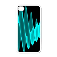 Wave Pattern Vector Design Apple Iphone 4 Case (white)