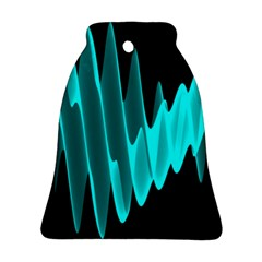 Wave Pattern Vector Design Bell Ornament (two Sides)