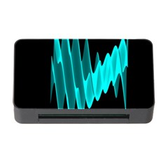 Wave Pattern Vector Design Memory Card Reader With Cf