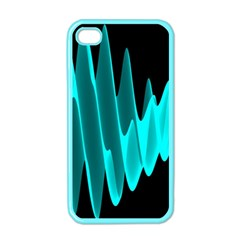 Wave Pattern Vector Design Apple iPhone 4 Case (Color)