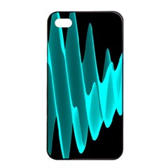 Wave Pattern Vector Design Apple Iphone 4/4s Seamless Case (black)