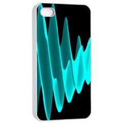 Wave Pattern Vector Design Apple Iphone 4/4s Seamless Case (white)