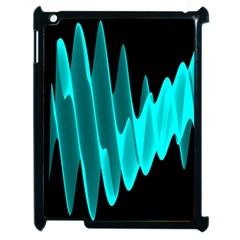 Wave Pattern Vector Design Apple iPad 2 Case (Black)
