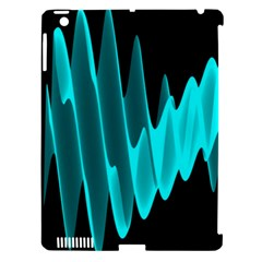 Wave Pattern Vector Design Apple Ipad 3/4 Hardshell Case (compatible With Smart Cover)