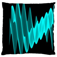 Wave Pattern Vector Design Large Cushion Case (One Side)
