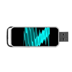 Wave Pattern Vector Design Portable Usb Flash (two Sides)
