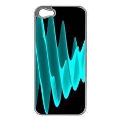Wave Pattern Vector Design Apple iPhone 5 Case (Silver)