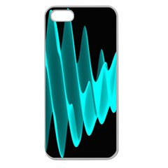 Wave Pattern Vector Design Apple Seamless Iphone 5 Case (clear)