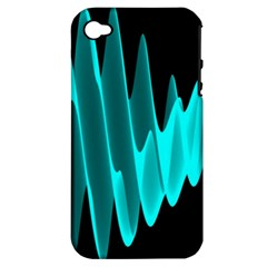 Wave Pattern Vector Design Apple Iphone 4/4s Hardshell Case (pc+silicone)