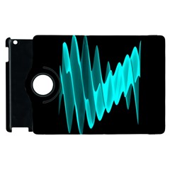 Wave Pattern Vector Design Apple Ipad 2 Flip 360 Case