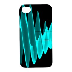 Wave Pattern Vector Design Apple Iphone 4/4s Hardshell Case With Stand