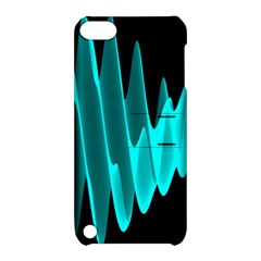 Wave Pattern Vector Design Apple iPod Touch 5 Hardshell Case with Stand