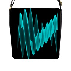 Wave Pattern Vector Design Flap Messenger Bag (L)