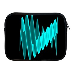 Wave Pattern Vector Design Apple iPad 2/3/4 Zipper Cases