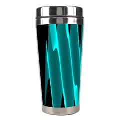 Wave Pattern Vector Design Stainless Steel Travel Tumblers