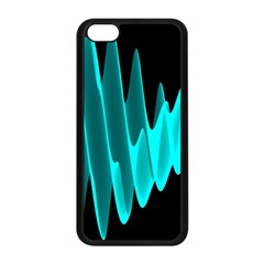 Wave Pattern Vector Design Apple iPhone 5C Seamless Case (Black)