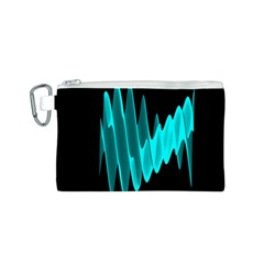 Wave Pattern Vector Design Canvas Cosmetic Bag (S)