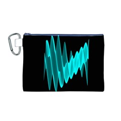 Wave Pattern Vector Design Canvas Cosmetic Bag (M)