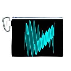 Wave Pattern Vector Design Canvas Cosmetic Bag (l)