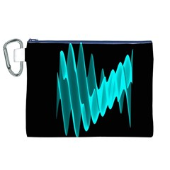 Wave Pattern Vector Design Canvas Cosmetic Bag (xl)