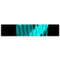 Wave Pattern Vector Design Flano Scarf (Small)