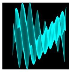 Wave Pattern Vector Design Large Satin Scarf (Square)