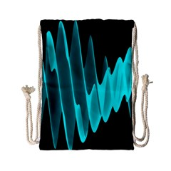 Wave Pattern Vector Design Drawstring Bag (Small)