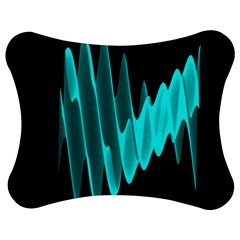 Wave Pattern Vector Design Jigsaw Puzzle Photo Stand (Bow)