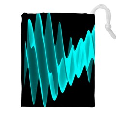 Wave Pattern Vector Design Drawstring Pouches (XXL)