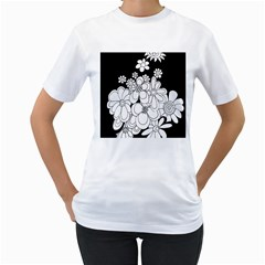 Mandala Calming Coloring Page Women s T Shirt (white) (two Sided)
