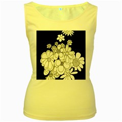 Mandala Calming Coloring Page Women s Yellow Tank Top