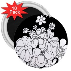 Mandala Calming Coloring Page 3  Magnets (10 pack)