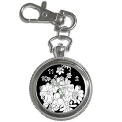 Mandala Calming Coloring Page Key Chain Watches