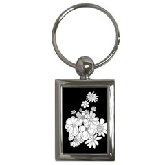 Mandala Calming Coloring Page Key Chains (rectangle)
