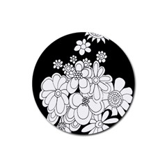Mandala Calming Coloring Page Rubber Round Coaster (4 pack)
