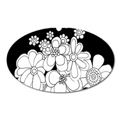 Mandala Calming Coloring Page Oval Magnet