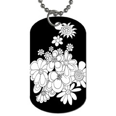 Mandala Calming Coloring Page Dog Tag (one Side)