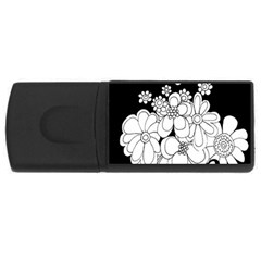 Mandala Calming Coloring Page Usb Flash Drive Rectangular (4 Gb)