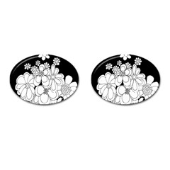 Mandala Calming Coloring Page Cufflinks (Oval)