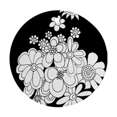 Mandala Calming Coloring Page Round Ornament (two Sides)