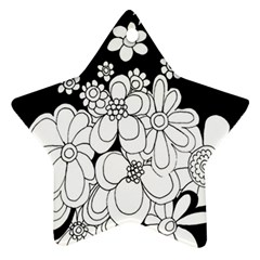 Mandala Calming Coloring Page Star Ornament (Two Sides)