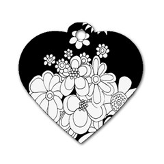Mandala Calming Coloring Page Dog Tag Heart (one Side)