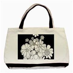 Mandala Calming Coloring Page Basic Tote Bag (Two Sides)