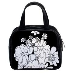 Mandala Calming Coloring Page Classic Handbags (2 Sides)