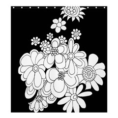 Mandala Calming Coloring Page Shower Curtain 66  x 72  (Large)