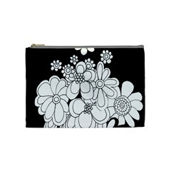 Mandala Calming Coloring Page Cosmetic Bag (Medium)