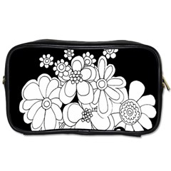 Mandala Calming Coloring Page Toiletries Bags 2 Side